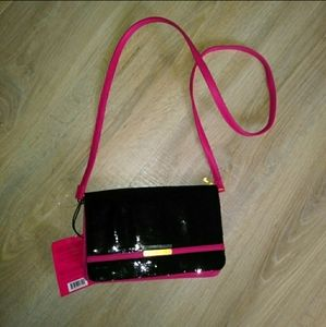 NWT Juicy Couture black sparkly crossbody bag